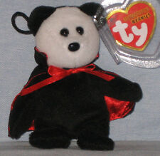 TY TWILIGHT the VAMPIRE BEAR HALLOWEENIE BEANIE BABY - MINT with MINT TAGS