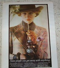 1974 ad page -sugar free Dr Pepper soda pop CUTE girl in hat suit Vintage ADVERT