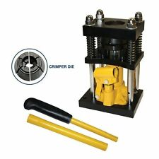 "Manual Benchtop Air Hose Crimper with Hydraulic Jack  - 1/2"" to 3/4"" - H10-8"