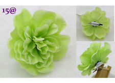Fruit green Big Romantic Silk Hair Accessory Flower Hairpin Prom Wedding party