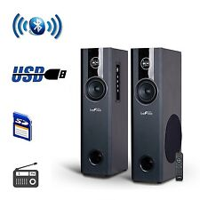 BEFREE SOUND BLUETOOTH WIRELESS POWERED TOWER SPEAKERS SYSTEM USB MP3 SD PLAYER