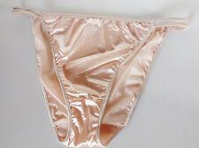 Nylon Sedosa Crema Marfil Satén Cadena Bikini Bragas Tanga Bragas 22