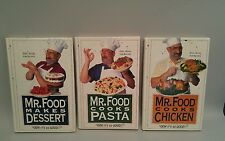 Lot of 3 Mr. Food Cooks: Chicken, Pasta, Dessert by Art Ginsburg  Easy Recipes