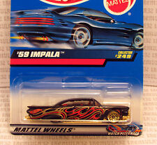 KYLE PETTY CARD VARIATION 1959 CHEVY IMPALA '59 BLACK RED 2000 #249 HOT WHEELS