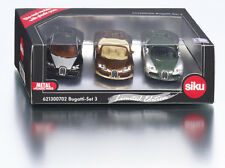 Siku Bugatti Veyron Set 3 GREEN, BLACK, BROWN (New & Sealed) 1:55 (Item # 1305)
