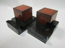 33 Millimeter Red Top Plastic Tefillin Boxes Set,for Right Handend, Rashi