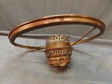 "Antique Brass B & H Rayo 10"" Shade Holder Ring With Electrified Burner (LP81)"