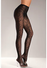 BeWicked 515Q Plus Size Spider Web Panty Hose (As Shown;Plus Size)