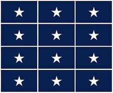 """12 qty of 3x5"""" Flag Decal Sticker - BONNIE BLUE Confederate Rebel Civil War"""