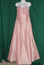 ALFRED ANGELO Pink Rose Bridesmaid Formal Prom Dress Ball Gown Size 8