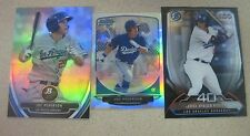 (3) JOC PEDERSON ROOKIE CARD LOT 2013 CHROME MINI REFR/PLATINUM/TOP 100 PROSPECT