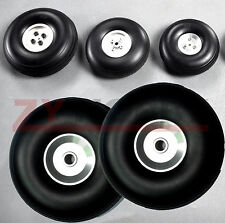 1pair of 3 inch/76mm 5mm Hole RC Airplane PU wheel withAluminum Hub High Quality