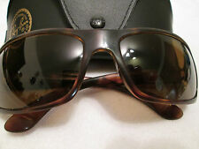 Ray Ban brown tortoiseshell frame polarized sunglasses. RB 4075. With case.