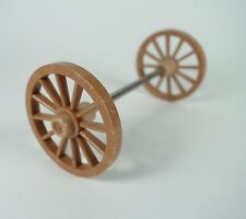Vintage Playmobil~Stagecoach~Covered Wagon~Replacement brown wheels axle small