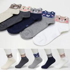 5 Pairs Animal Socks Womens Big Kids Ankle Casual Character Socks MADE IN KOREA