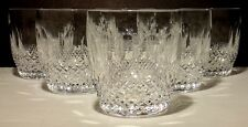 """6 VINTAGE WATERFORD CRYSTAL COLLEEN OLD FASHIONED GLASSES ~ 3 3/8"""""""