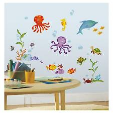 UNDER the SEA wall stickers 60 decals Dolphin Octopus Fish Turtle scrapbook