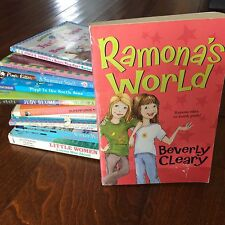 lot of 14 chapter books,ramona,pipi,junie b,great brain,little women illustrated