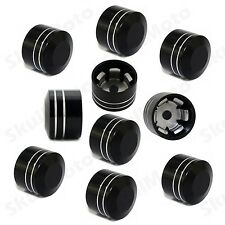 "Black CNC 1/2"" Schrauben Inner Hoel 13mm Motor Screw Bolt Cover Cap For Harley"