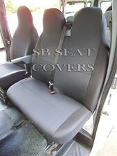 TO FIT A RENAULT MASTER VAN, 2011, SEAT COVERS, DARK RAVEN 1S+1D
