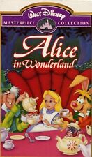 Disney Masterpiece ALICE IN WONDERLAND Animated Family VIDEO VHS 1998 Clamshell