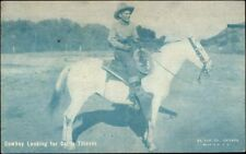 Cowboy Actor LOOKING FOR CATTLE THIEVES Exhibit Arcade Card
