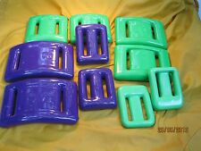 SCUBA DIVE WEIGHTS COATED Neon Green & Purple for BCD or BELT 10 Pieces 30+ Lbs
