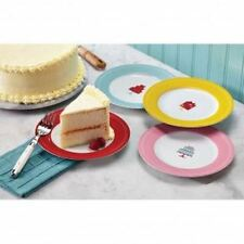 CAKE BOSS DEVOTED TO DESSERT 4 PIECE PLATE SET WITH PRESENTS AND CAKE THEME NIB