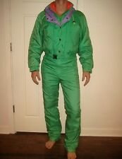Vtg 80s KILLY Green Mens SMALL Gaper Snow SKI Suit BIB Coat Onesie Snowsuit S 38