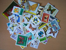 40 DIFFERENT BUTTERFLIES AND MOTH STAMPS