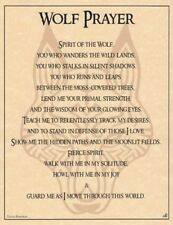 Wolf Prayer Poster           Wicca -- Pagan -- New Age