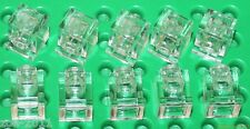 Lego 10x Transparent Clear Brick, Modified 1x1 Headlight (4070) NEW!