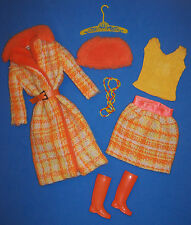 Vintage Barbie Doll Made For Each Other #1881 Necklace Hat Boots Coat Skirt 1969