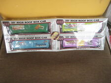 Set of 4 Proto 1000 Series 50' High Roof Box Car HO Scale Popsicle/Creamsicle
