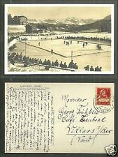 Montana rppc Ice Hockey Tournament Switzerland stamp 1930