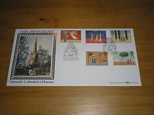 """1996 GB Stamps CHRISTMAS On BENHAM """"Norwich"""" FDC Special Cancels Ltd. Ed"""