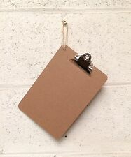 Wooden A5 Clipboard Hardboard With Chrome Clip & Twine Hanger 250x170mm