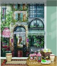 French Style Cafe Coffee Shop Scene Shower Curtain 180cm X 180cm Polyester