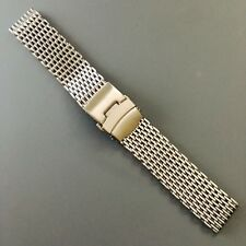 New Stainless Steel Mesh Dive Bracelet Strap, 20mm, Fits Omega Seamaster Watch