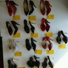 Lot of 13 Vintage High Heels 7 7.5 Other Sizes