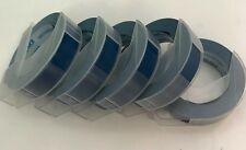 Dymo 3D embossing tape labels x  5 rolls x 9mm x 3m in BLUE