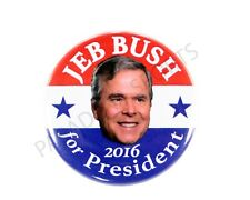 "2016 JEB BUSH for PRESIDENT 2.25"" CAMPAIGN BUTTON, jbsd"