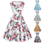 Retro Vintage Style 50s 60s Pinup Floral Housewife Swing Evening Party Dresses
