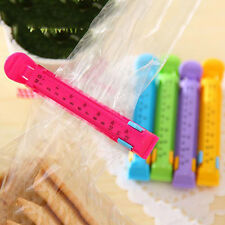 5pcs Dated Sealing Bag Clips Date Kitchen Seal Clips Plastic Bag Snack Food Clip