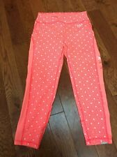 Abercrombie & Fitch XS yoga sport A&F Active Cropped Leggings pants XS neon