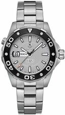 AUTHENTIC TAG HEUER AQUARACER WAJ2111.BA0870 AUTOMATIC 500M DIVERS SILVER WATCH