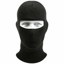 Black One Size Acrylic One Hole Balaclava Ski Winter Face Mask