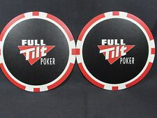 FULL TILT POKER CHIP 2 PIECES MOUSE PAD POKER PLAYER FOR LAPTOP & HOME COMPUTER