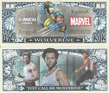 X-Men Wolverine Million Dollar Collectible Funny Money Novelty Note