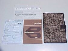 Ferrari 512 BBi Owners Manual _Pouch_Emissions Statement_Agip Oil Chart OEM